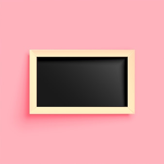 Trendy empty wooden frame design