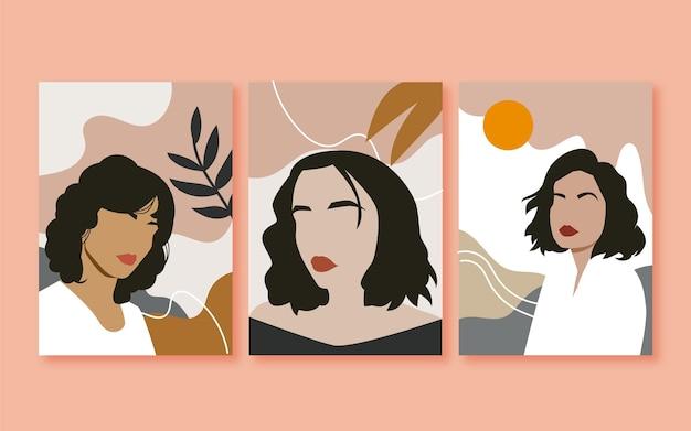 유행 패션 초상화 커버 컬렉션