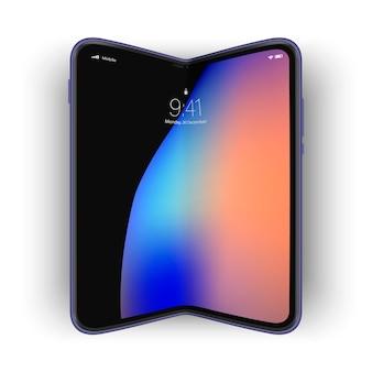 Модный гибкий телефон будущего с изогнутым экраном