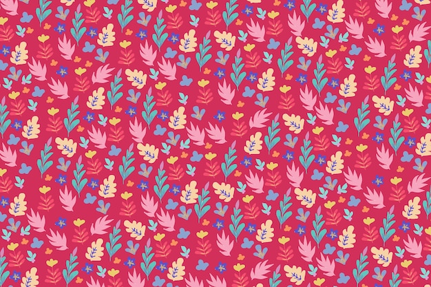 Trendy floral pattern background