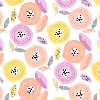 Trendy flower pattern