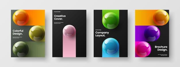 Trendy front page a4 vector design concept composition