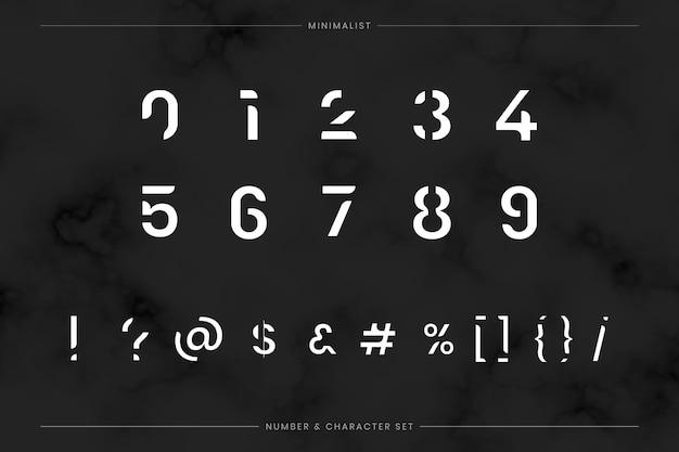 Set tipografia futuristica alla moda