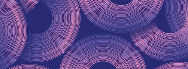抽象的な円の形をしたトレンディな幾何学的な背景。バナーデザイン。未来的なダイナミックパターンデザイン。ベクトルイラスト
