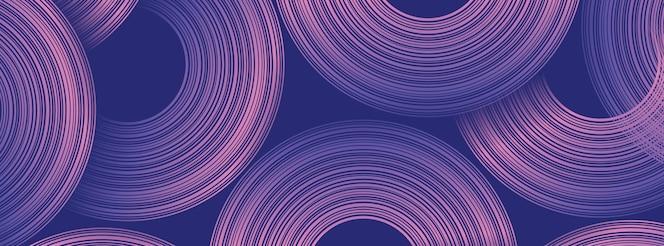 추상적인 원형 모양으로 트렌디한 기하학적 배경입니다. 배너 디자인입니다. 미래 지향적인 동적 패턴 디자인. 벡터 일러스트 레이 션