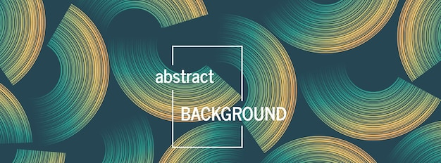 Trendy geometric background with abstract circles shapes. futuristic dynamic pattern design. vector illustration