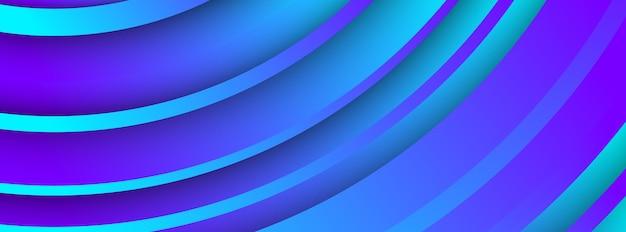 抽象的な円の形をしたトレンディな幾何学的な青い背景。バナーデザイン。未来的なダイナミックパターンデザイン。ベクトルイラスト