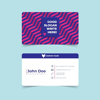 Trendy geometric business card print template.