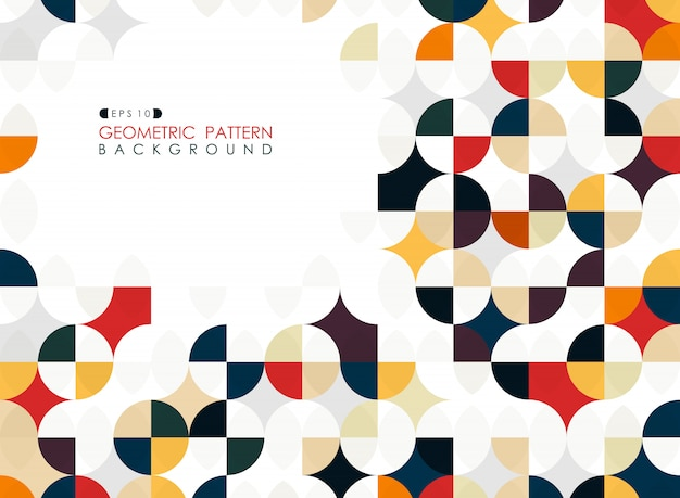 Trendy geometric circle square business cover background