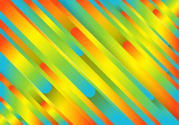 추상적인 라인으로 트렌디한 기하학적 화려한 배경입니다. 미래 지향적인 동적 패턴 디자인. 벡터 일러스트 레이 션