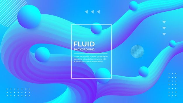 Trendy geometric fluid shape background