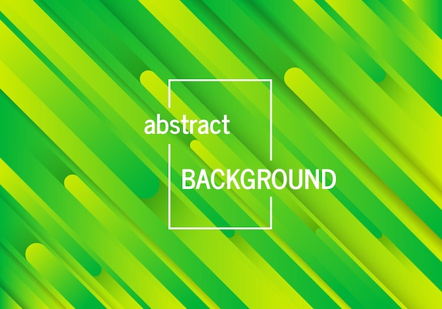 Trendy geometric green background with abstract lines. futuristic dynamic pattern design. vector illustration