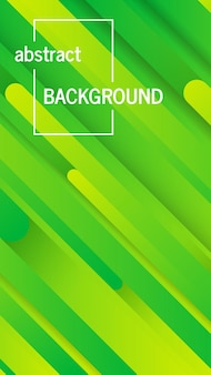 抽象線とトレンディな幾何学的な緑の背景。ストーリーバナーデザイン。未来的なダイナミックパターン。ベクトルイラスト