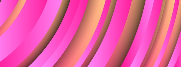Trendy geometric pink background with abstract circles shapes. banner design. futuristic dynamic pattern design. vector illustration