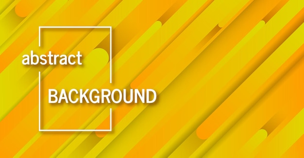 Trendy geometric yellow background with abstract lines. banner design. futuristic dynamic pattern. vector illustration