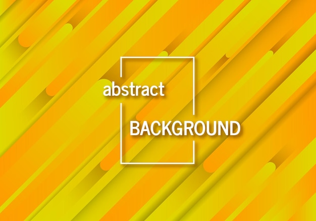 Trendy geometric yellow background with abstract lines. futuristic dynamic pattern design. vector illustration