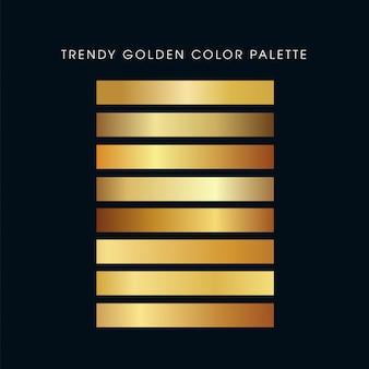 流行の金色パレット