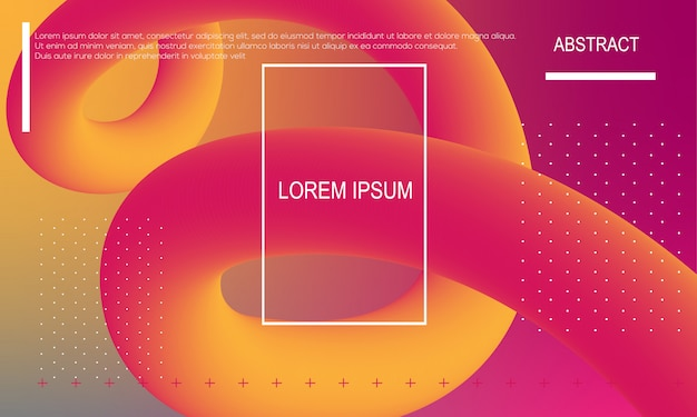 Trendy gradient shapes composition. abstract background.