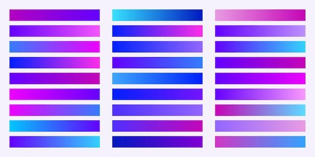 Коллекция цветов trendy gradients