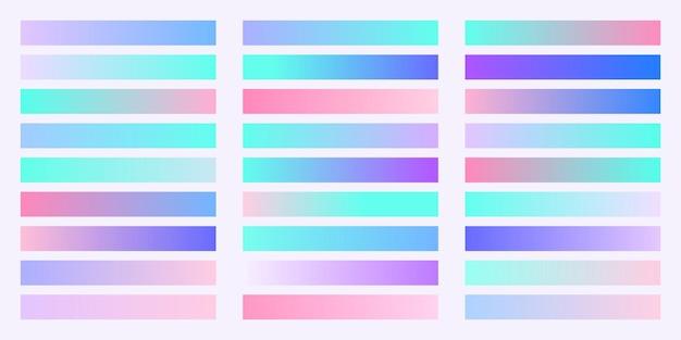 トレンディなグラデーションカラーコレクション