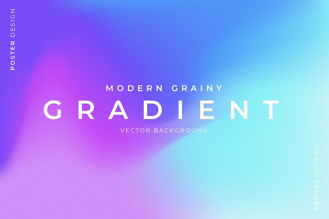 Trendy grainy background with vibrant colors
