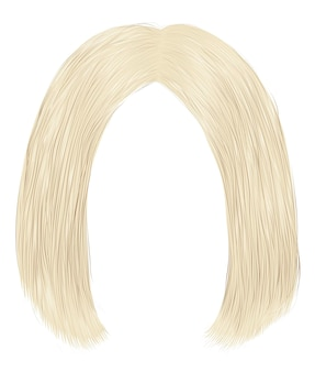 Trendy hairs brunette blond colors. kare parting.