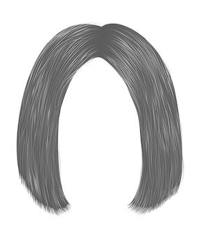 Модные волосы брюнетки серого цвета. каре расставание. красота мода