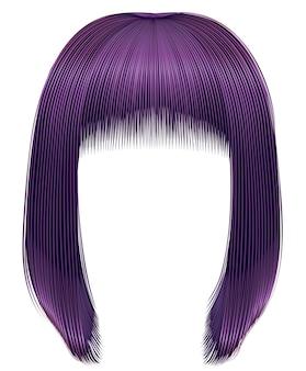 В моде волосы фиолетового цвета. каре бахрома. красота мода