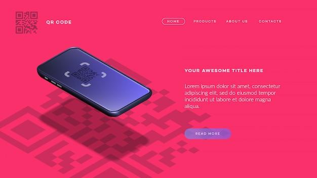 Trendy isometric  smartphone.