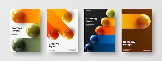 최신 유행 저널 표지 a4 벡터 디자인 컨셉 컬렉션