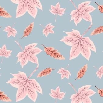 流行の葉の模様