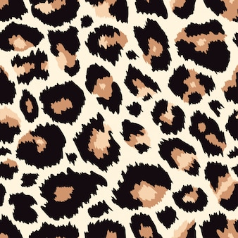 Trendy leopard seamless pattern.