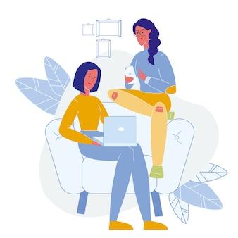 Trendy lifestyle, online leisure flat