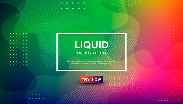 Trendy liquid color background