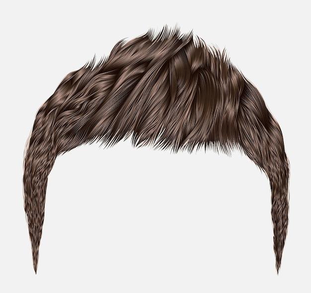Модные мужские волосы, изолированные на белом