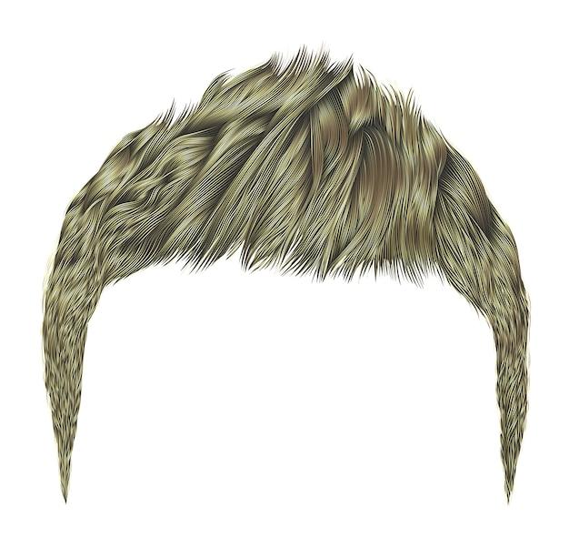 Модный мужской волос.светлый цвет. стиль красоты .realistic 3d.