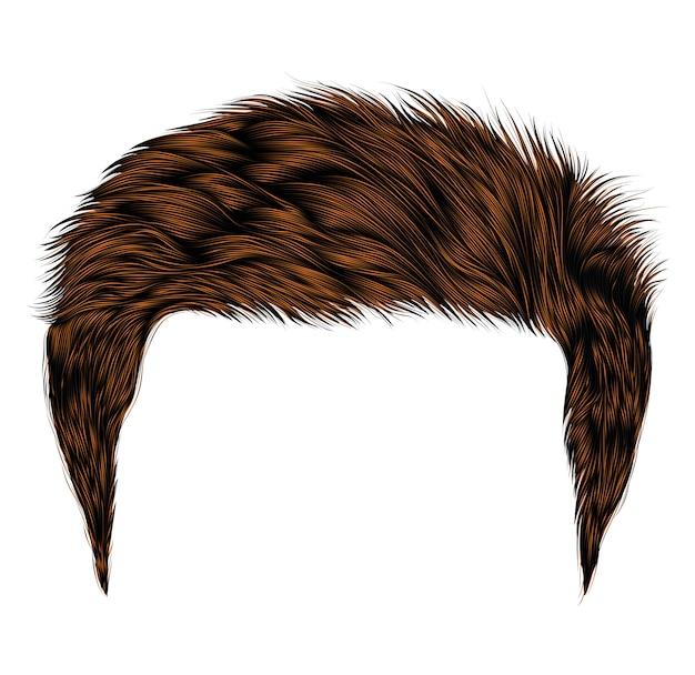 Модные волосы человека short.brown color.beauty style.realistic 3d.