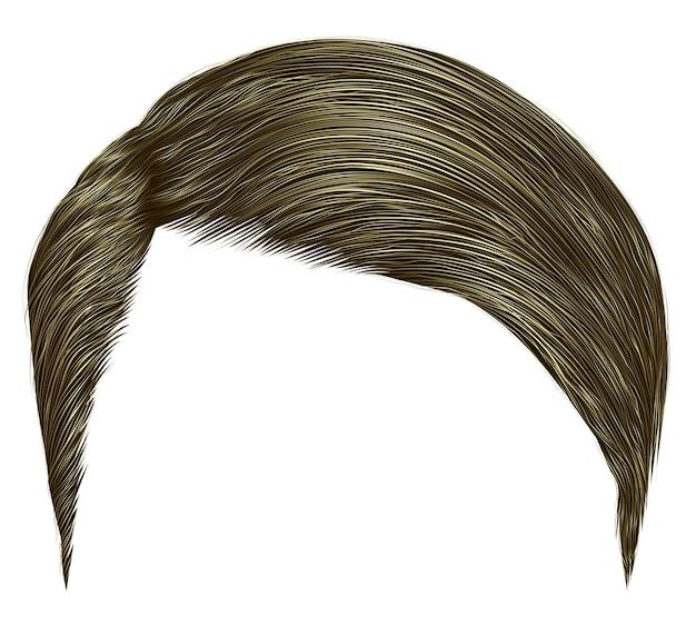 Волосы ультрамодного человека короткие. коричневая блондинка стиль красоты реалистическое 3d.