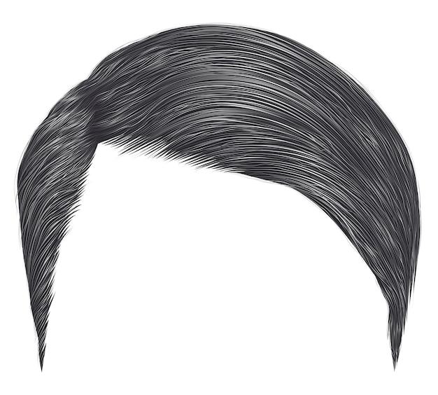 Модный мужчина короткие волосы. серый цвет. стиль красоты. реалистичные 3d.