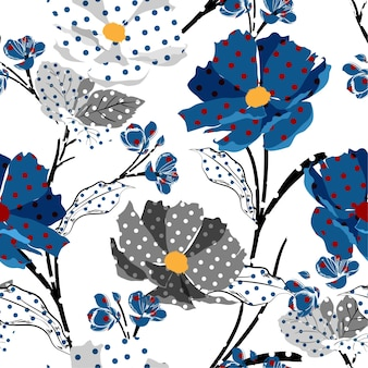 Trendy meadow pattern