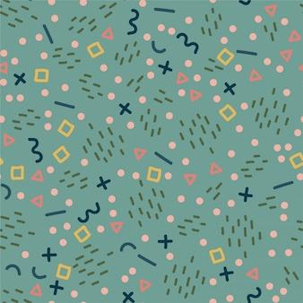 Trendy memphis style seamless pattern