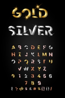 Trendy metallic letter set