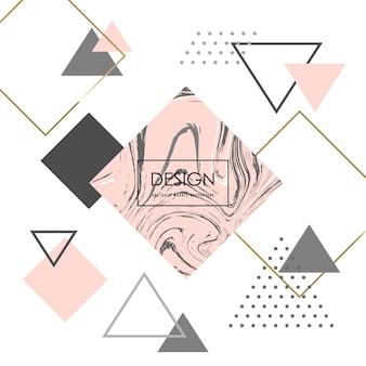 Trendy minimalist geometric background. pink marble pattern. vector illustration.