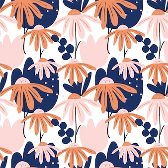 Trendy modern seamless pattern background