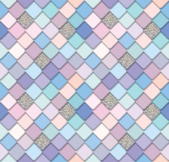 Trendy mosaic seamless background