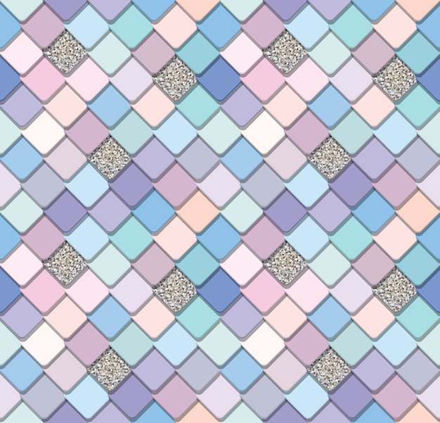 Trendy mosaic seamless background
