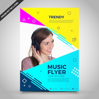 Trendy music flyer