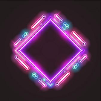 Trendy neon banner design.