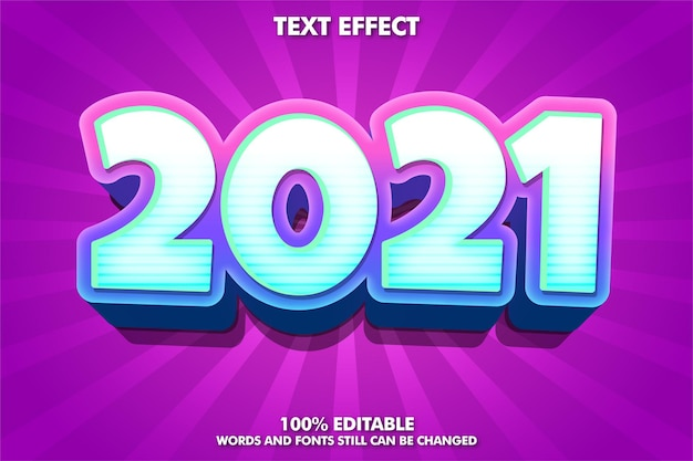 Trendy new year banner, editable text effect