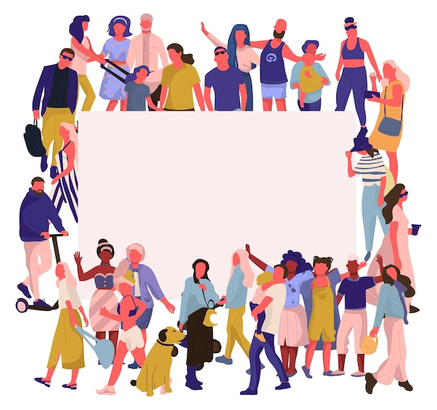 Trendy people banner illustration